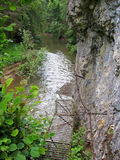 Barranco del río de Hornad, paraíso eslovaco Foto de archivo