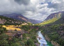 Barranco del río Tara en Montenegro Foto de archivo