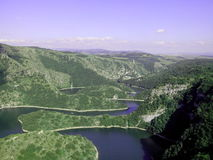 Barranco del río Uvac en Serbia Fotos de archivo libres de regalías