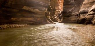 Barranco del río Fotografía de archivo libre de regalías