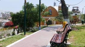 Barranco District Yellow And White Hermitage, Lima Royalty Free Stock Photos