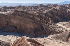 Barranco en el desierto de Anza Borrego Imagenes de archivo