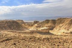 Barranco en el desierto de Judean Imágenes de archivo libres de regalías
