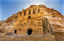 Barranco externo Petra Jordan del EL-siq Triclinium Siq de Bab de la tumba del obelisco imagen de archivo