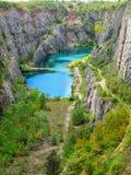 Barranco grande de América, mina de la dolomía Foto de archivo libre de regalías