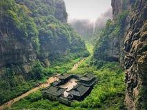 Barranco hermoso en China foto de archivo libre de regalías