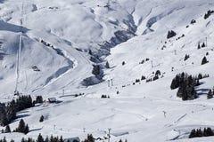 Barranco Les Crozets Nevado Fotos de archivo