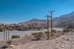 Barranco na maneira à montanha Omã dos logros de Jebel Foto de Stock