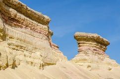 Barranco natural impresionante en el desierto de Namibe de Angola Foto de archivo libre de regalías