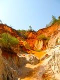 Barranco rojo cerca de Mui Ne, Vietnam meridional Imagen de archivo libre de regalías