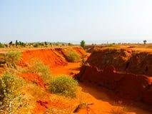 Barranco rojo cerca de Mui Ne, Vietnam meridional Fotografía de archivo