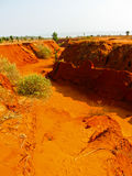 Barranco rojo cerca de Mui Ne, Vietnam meridional Imagen de archivo