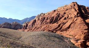 Barranco rojo de la roca Foto de archivo libre de regalías