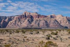 Barranco rojo de la roca Fotografía de archivo