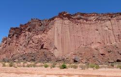 Barranco rojo de la roca Imagenes de archivo
