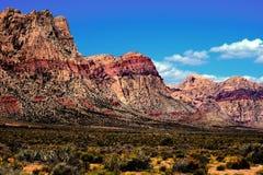 Barranco rojo de la roca Foto de archivo