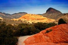 Barranco rojo de la roca, Nevada fotografía de archivo