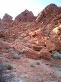 Barranco rojo Las Vegas de la roca imagen de archivo