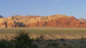 Barranco rojo Las Vegas Nevada, opinión de la roca del panorama metrajes