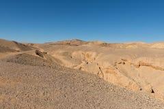 Barranco rojo que visita en las montañas de Eilat Imagen de archivo libre de regalías