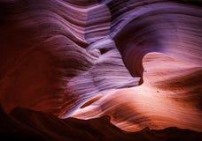 Barranco superior de la ranura del antílope, página, Arizona Imágenes de archivo libres de regalías