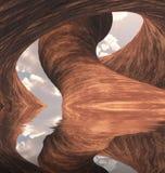 Barranco tallado Imagenes de archivo