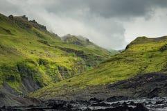 Barranco verde imagen de archivo