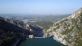 Barranco verde turco hermoso tirado del aire almacen de metraje de vídeo