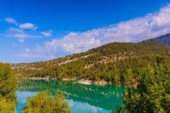 Barranco Verdon de la montaña en las montañas Foto de archivo libre de regalías