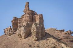 Barranco y el valle de castillos, parque nacional, Kazakhst de Charyn fotografía de archivo libre de regalías