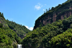 Barranco y montañas en Taining, Fujian, China Foto de archivo libre de regalías