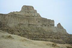 Barrancos en el práctico de costa de Makran del parque nacional imagen de archivo