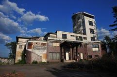 Barrandov大阳台老大厦  免版税库存照片