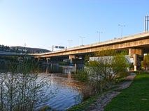 Barrandov桥梁,布拉格,捷克 免版税库存照片
