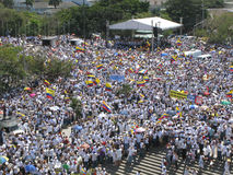 Barranquilla's protests Royalty Free Stock Image