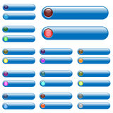 Barras azules del Web stock de ilustración