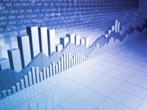 Barras, cartas e gráficos do mercado de valores de acção Fotos de Stock