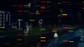 Barras coloridas que se mueven en la pantalla stock de ilustración