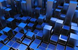 Barras crecientes metálicas azules Foto de archivo libre de regalías