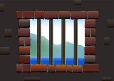Barras da cadeia Fotografia de Stock
