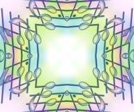 Barras da música & notas - quadro pastel macio ilustração do vetor