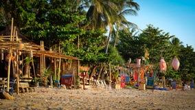Barras da praia fotografia de stock