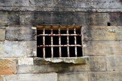 Barras da prisão do ferro foto de stock