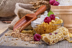 Barras da proteína do cereal foto de stock
