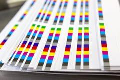 Barras da referência da cor do processo de impressão foto de stock royalty free