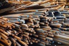 Barras de aço deformadas foto de stock royalty free