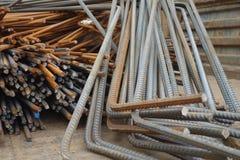 Barras de aço deformadas imagem de stock