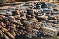 Barras de aço deformadas imagem de stock royalty free