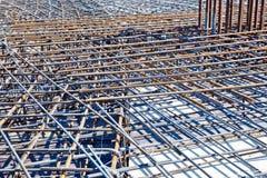 Barras de aço para reforçar o concreto Imagens de Stock Royalty Free