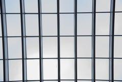barras de aço textured retangulares com placas de vidro in-between Fotos de Stock